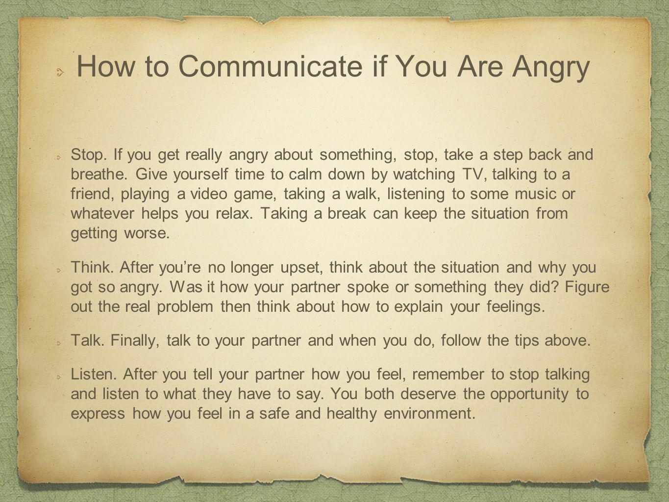 How to Communicate if You Are Angry Stop.