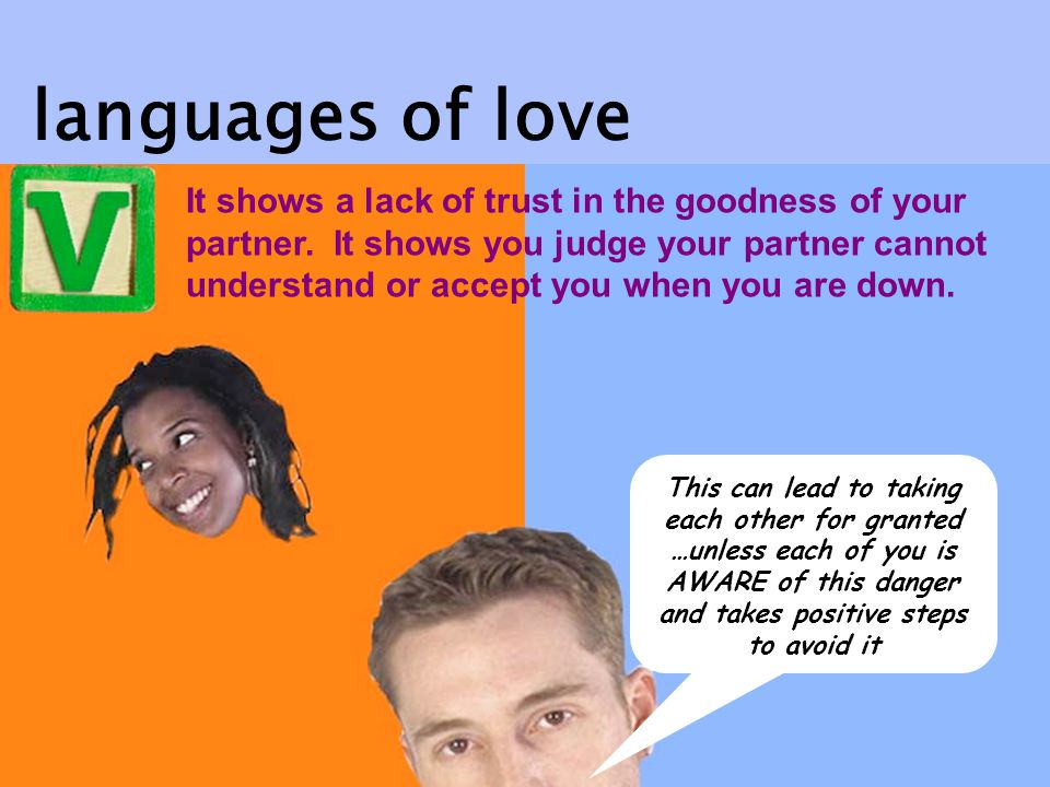 It shows a lack of trust in the goodness of your partner.