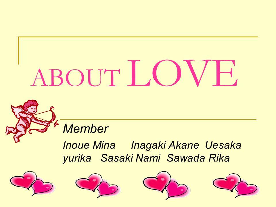 ABOUT LOVE Member Inoue Mina Inagaki Akane Uesaka yurika Sasaki Nami Sawada Rika