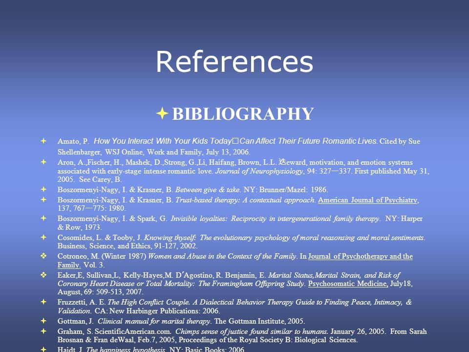 References BIBLIOGRAPHY Amato, P.