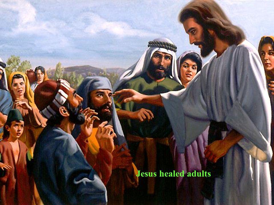 Jesus healed the sick children