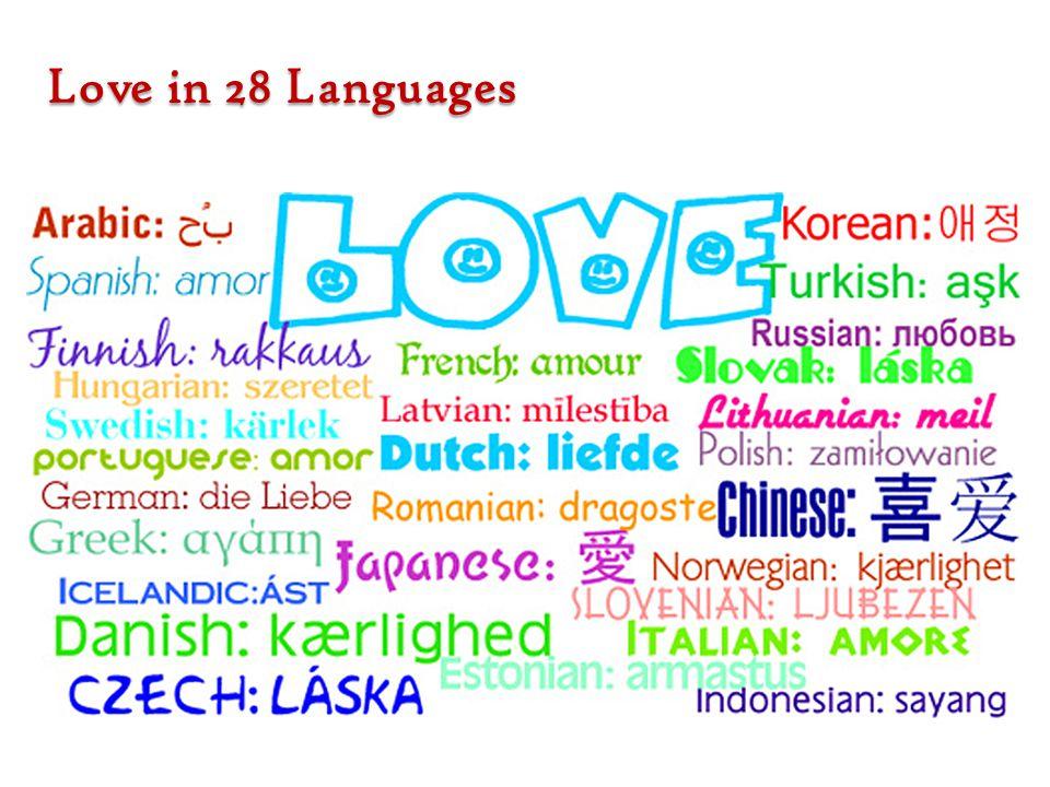 Love in 28 Languages