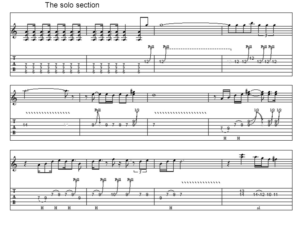 The solo section