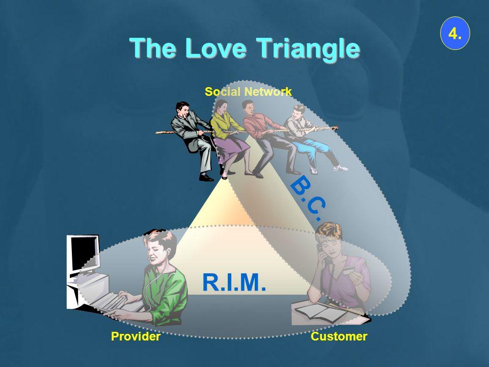 The Love Triangle Social Network CustomerProvider 4. R.I.M. B.C.