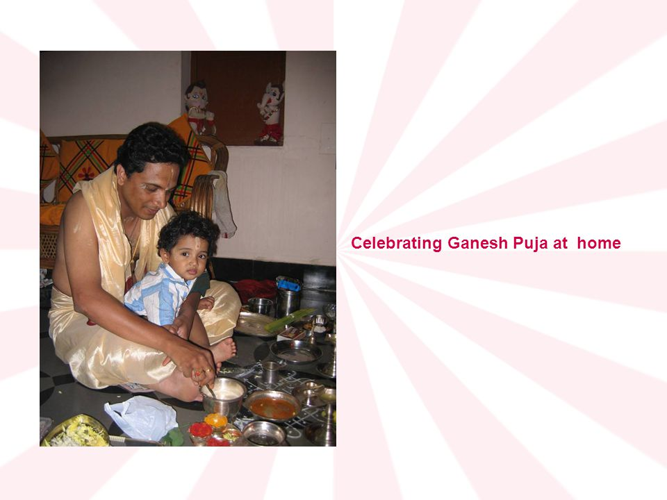 Celebrating Ganesh Puja at home