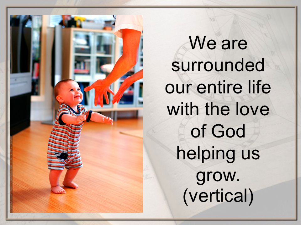 We are surrounded our entire life with the love of God helping us grow. (vertical)