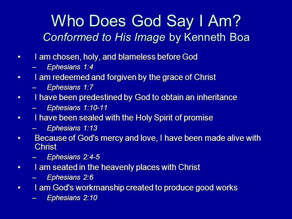 Who Does God Say I Am.