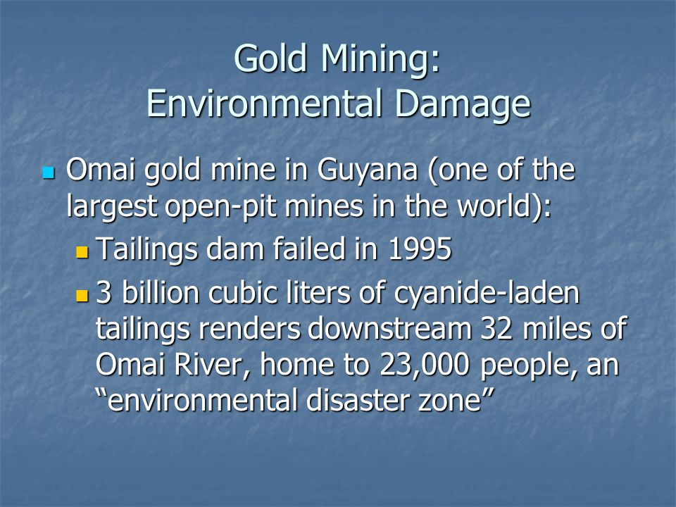 Gold Mining: Environmental Damage Omai gold mine in Guyana (one of the largest open-pit mines in the world): Omai gold mine in Guyana (one of the larg