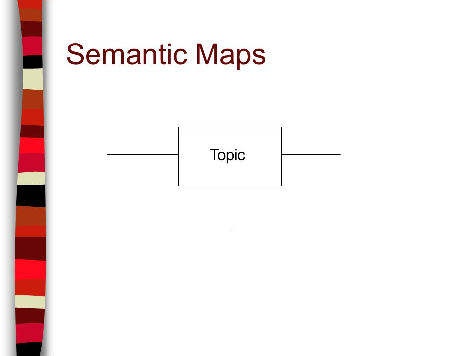 Semantic Maps Topic