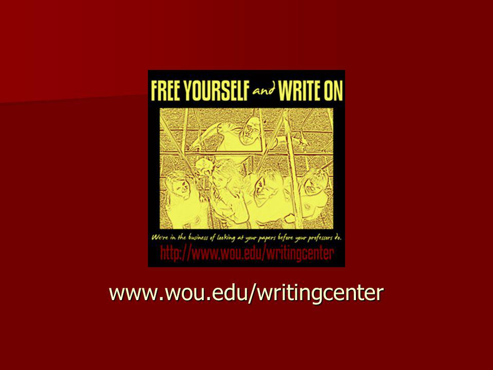 www.wou.edu/writingcenter