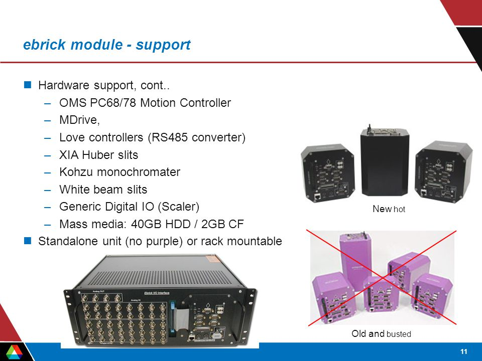 11 ebrick module - support Hardware support, cont..