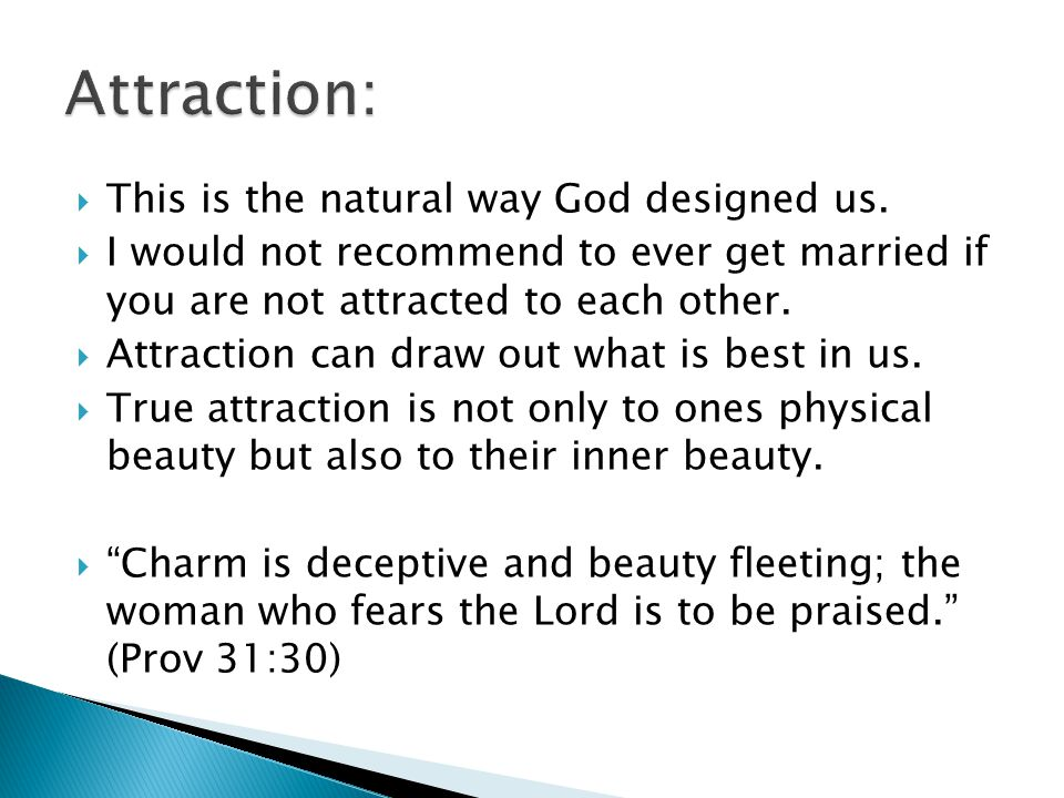 This is the natural way God designed us.