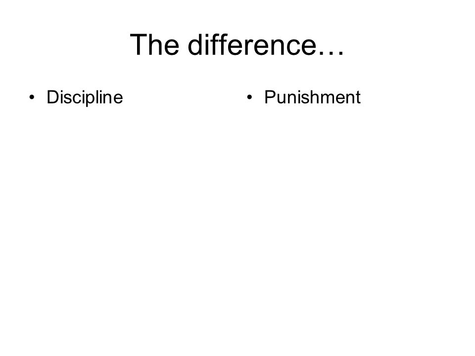 The difference… DisciplinePunishment