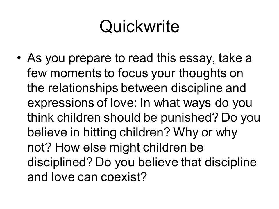 essay for children on discipline