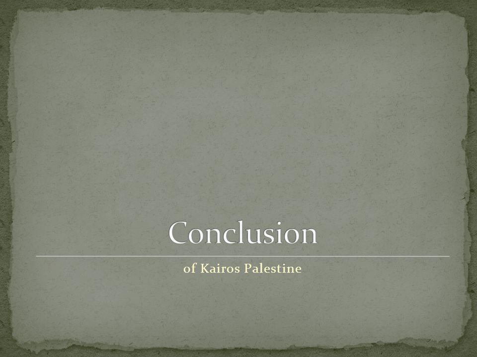 of Kairos Palestine