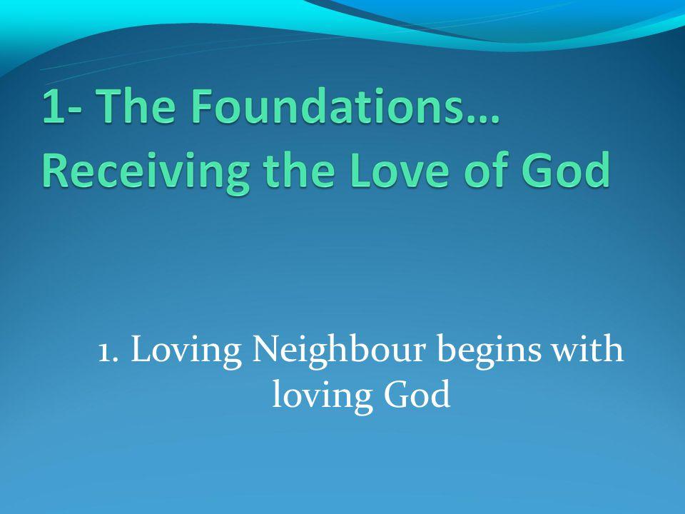 1. Loving Neighbour begins with loving God