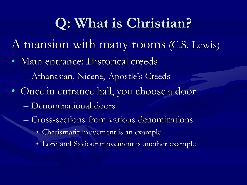 Door of Creeds Apostles Athanasian Nicene Mansion of Christianity Lord and Saviour Cross-section BaptistCatholicOrthodoxPentecostalReformed Other