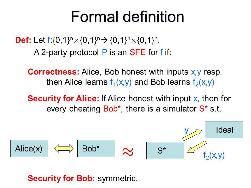 Def: Let f:{0,1} n £ {0,1} n {0,1} n £ {0,1} n.