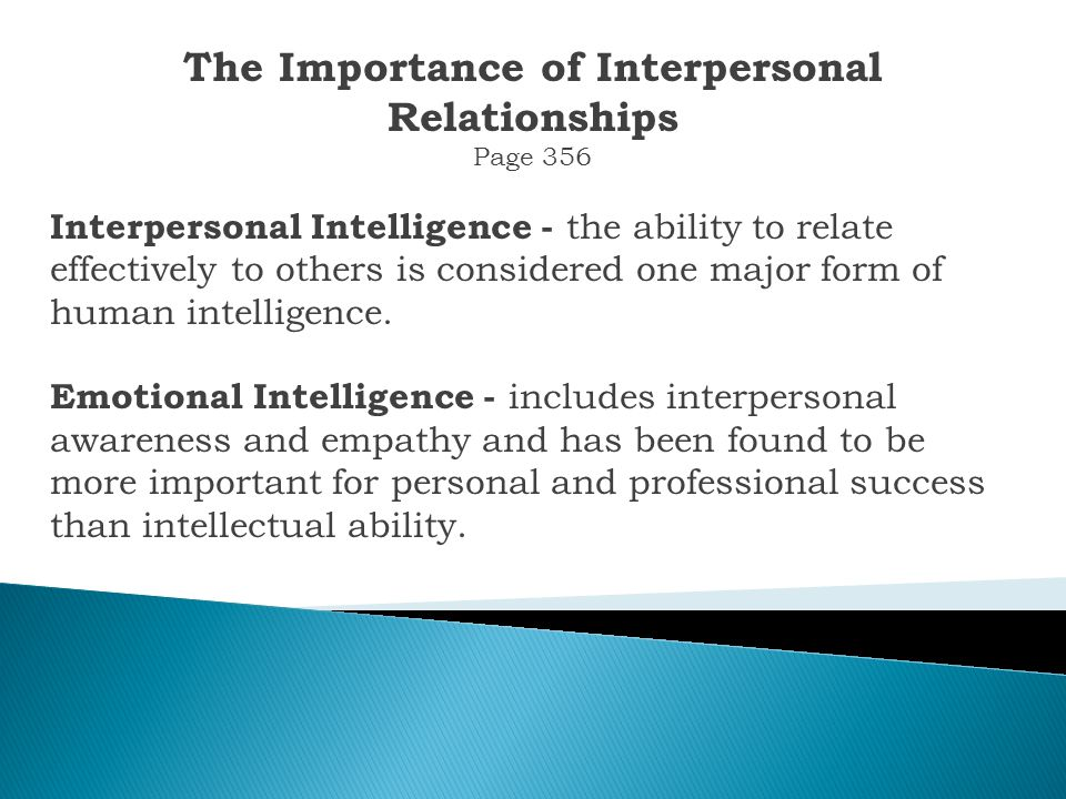 Chapter Outline The Importance of Interpersonal Relationships Developing Effective Interpersonal Skills Overcoming Shyness Dating and Romantic Relationships Interpersonal Conflicts Developing Leadership Skills Summary and Conclusion
