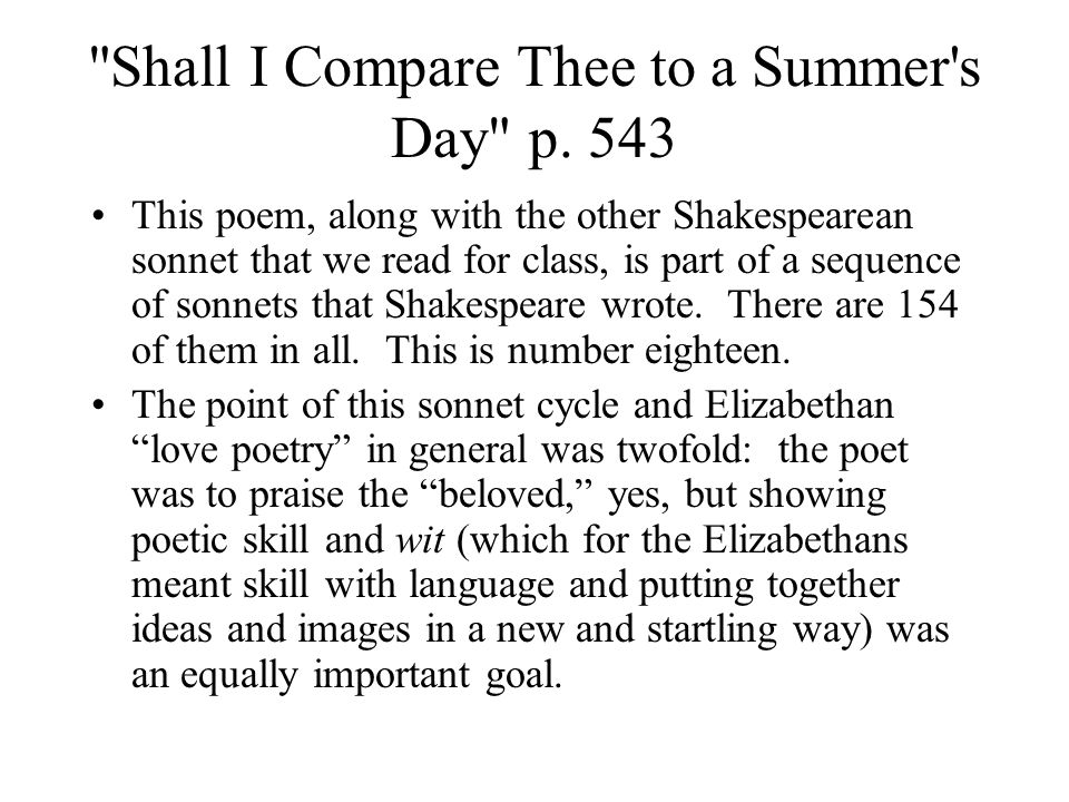 Shall I Compare Thee to a Summer s Day p.