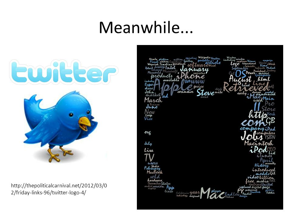 Meanwhile... http://thepoliticalcarnival.net/2012/03/0 2/friday-links-96/twitter-logo-4/