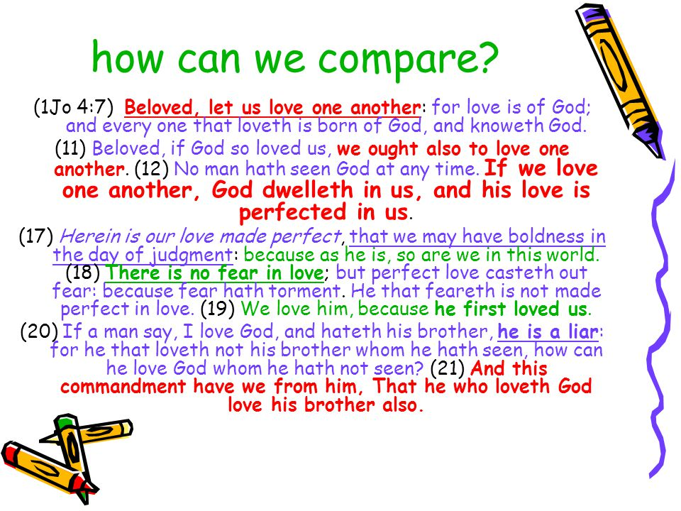 how can we compare.
