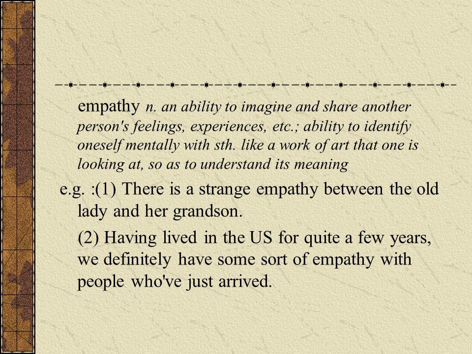 empathy n.