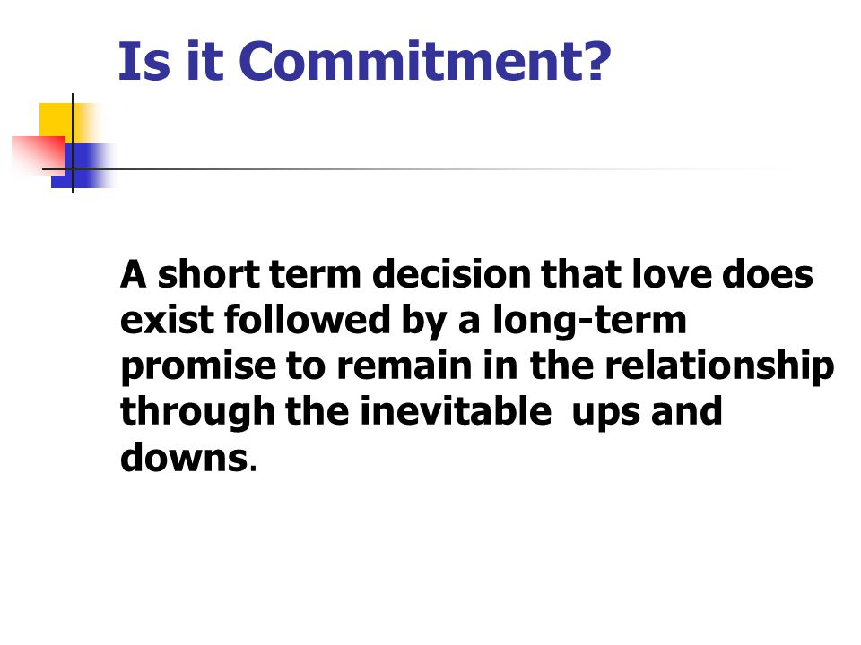 Is it Commitment.