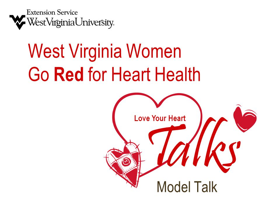 Love Your Heart T alks West Virginia Women Go Red for Heart Health Model Talk