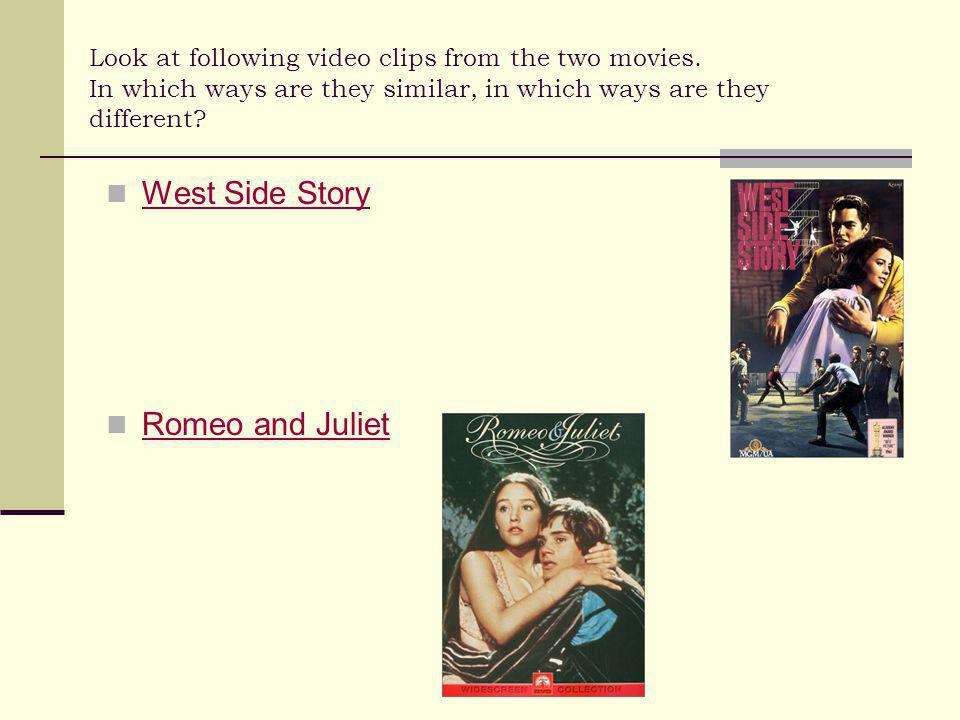 Look at following video clips from the two movies.