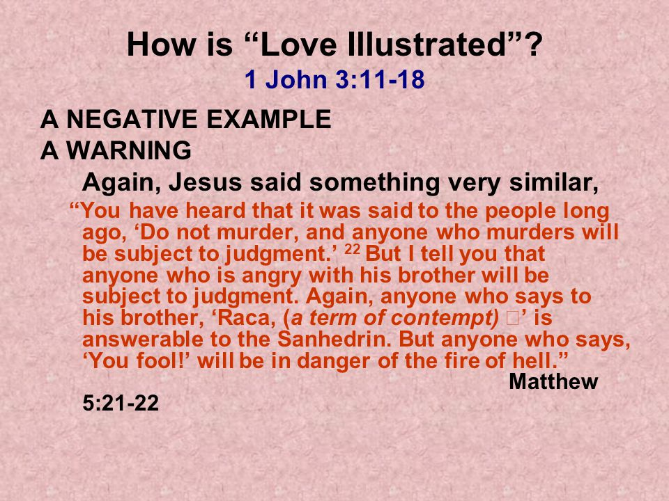 How is Love Illustrated.