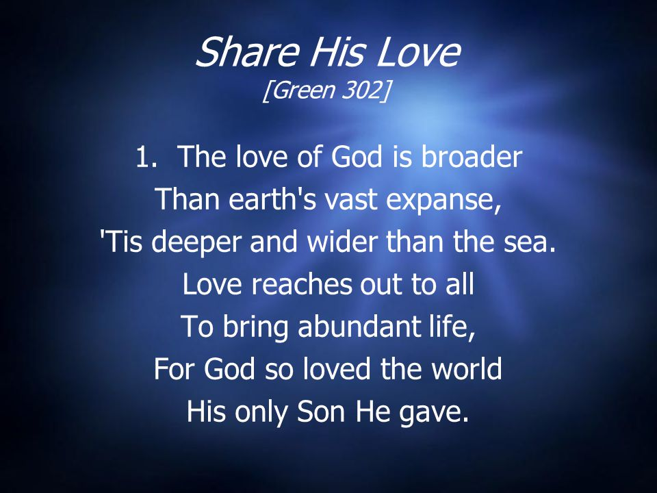 Share His Love [Green 302] 1.