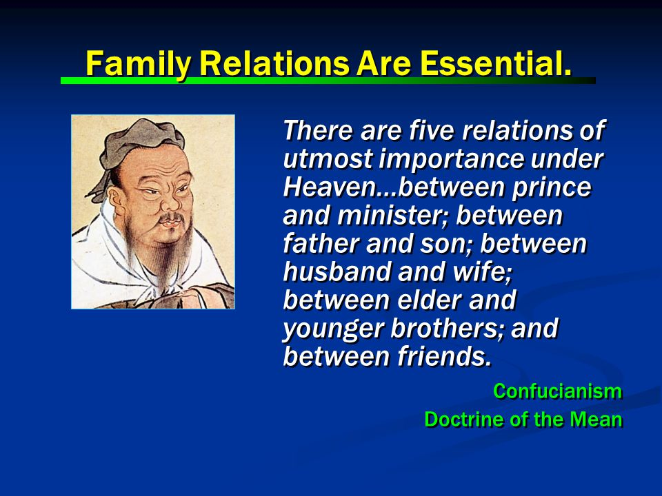 It is by the proper regulation of each family that the whole world is stabilized.
