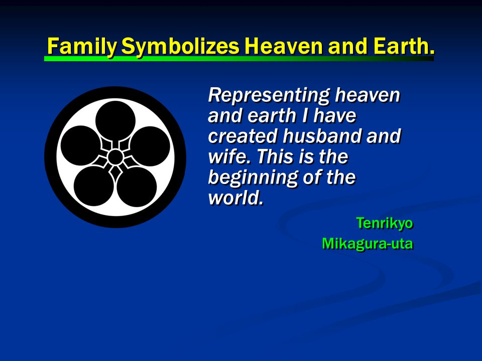 Representing heaven and earth I have created husband and wife.