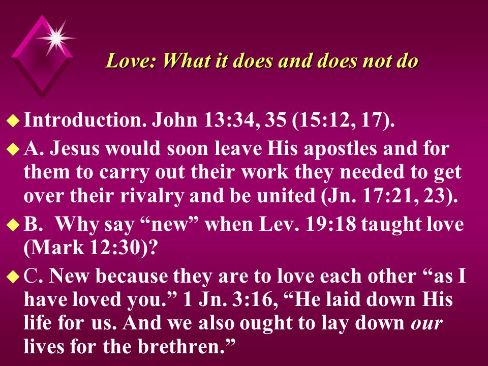 Love: What it does and does not do u Introduction.