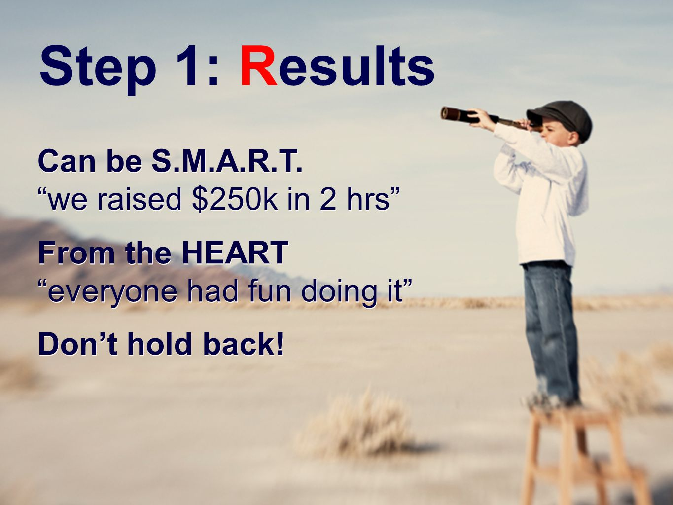 Step 1: Results Can be S.M.A.R.T.
