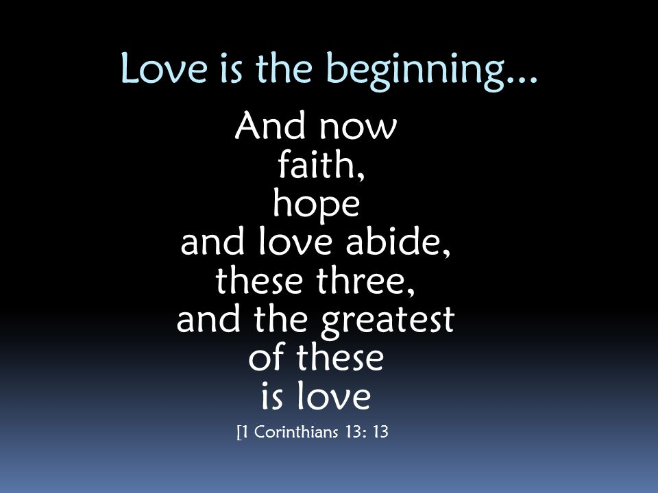 God is Love God is love.