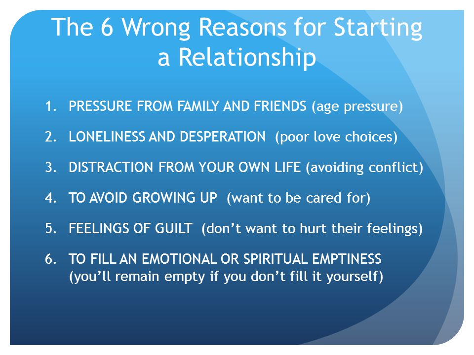 The 8 Categories of Relationships That Wont Work 1.YOU ARE IN LOVE WITH YOUR PARTNERS POTENTIAL – Do you find yourself saying………… My partner just needs more time to get it together.