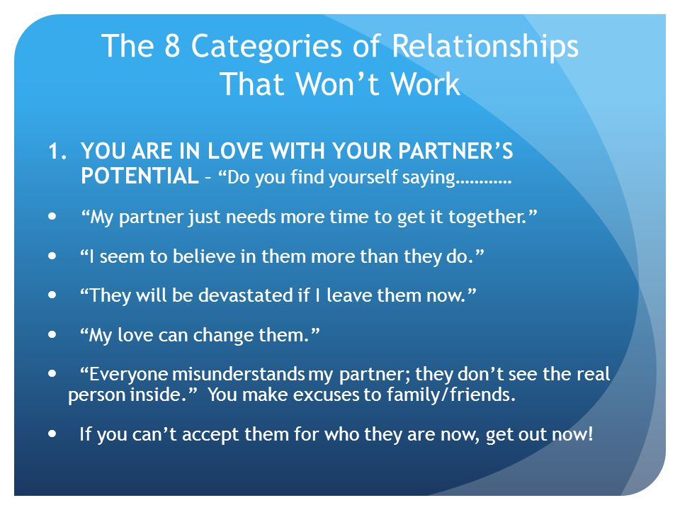 The 8 Categories of Relationships That Wont Work 2.