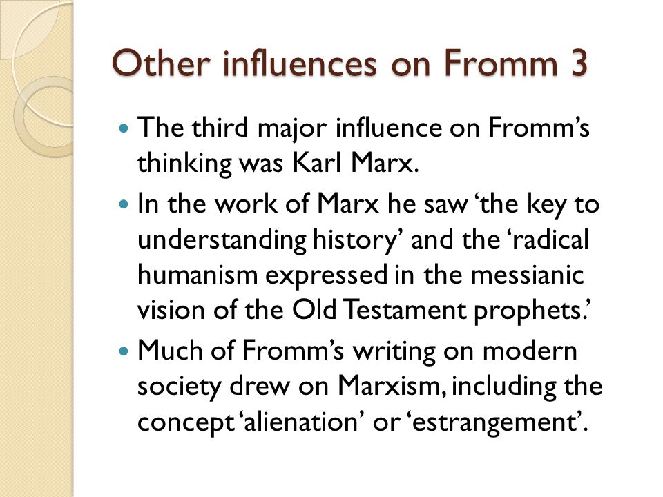Development of religion Within this evolutionary process Fromm weaves a development of the human understanding of religion and God.