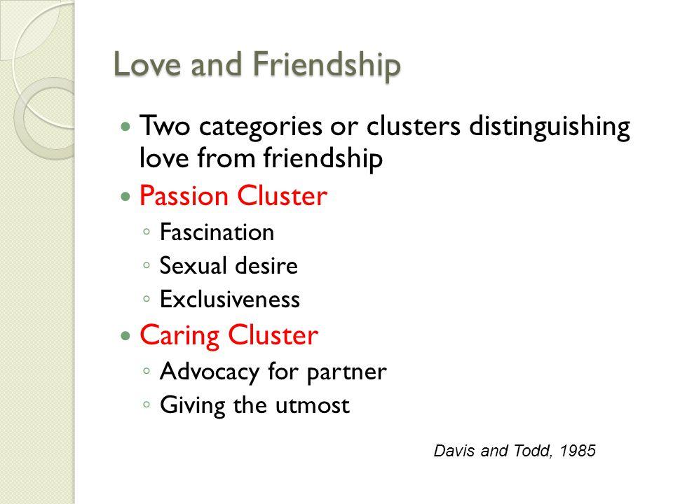 Love and Friendship Davis, 1985