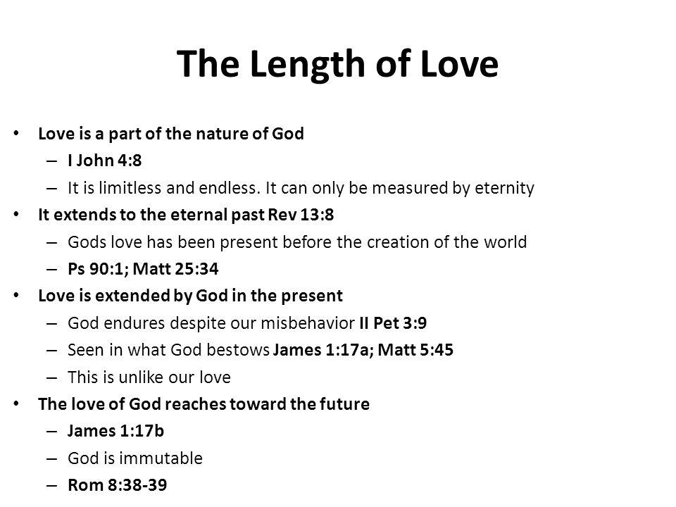 The Depth of Love Gods love is deep.