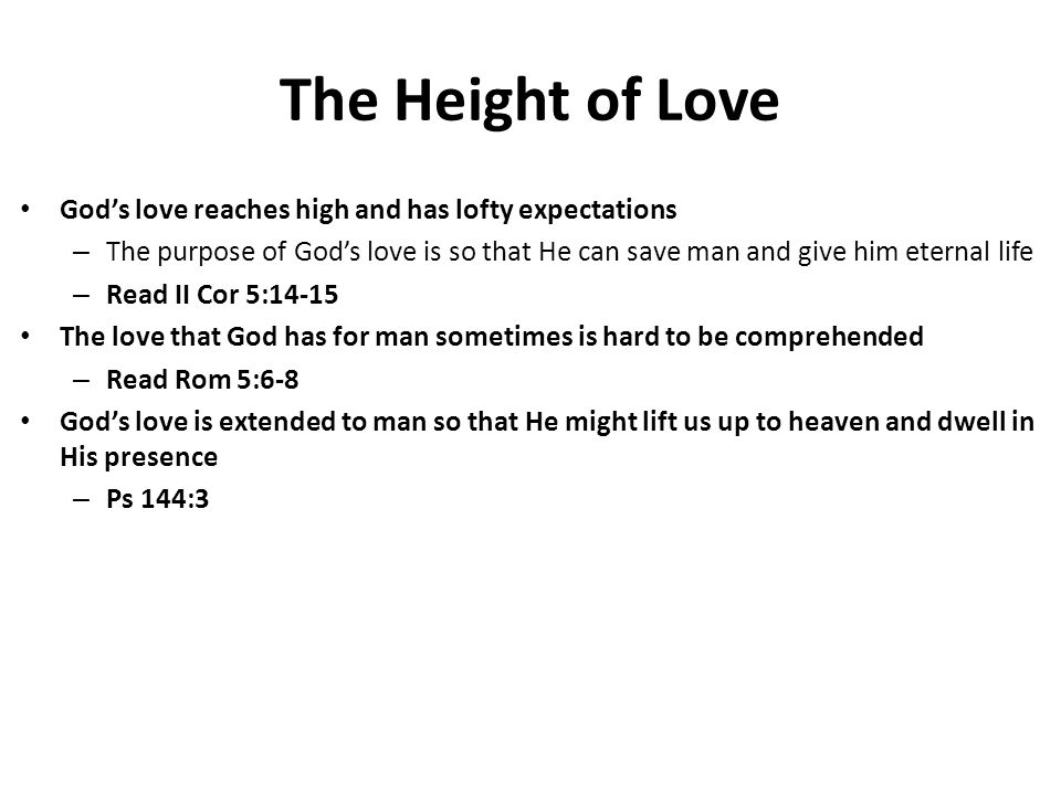 Are We Loving the Bible way.Do we love God as much as he loves us.