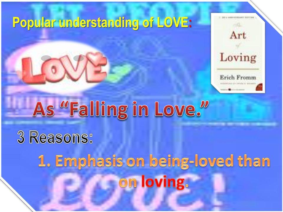 Popular understanding of LOVE: