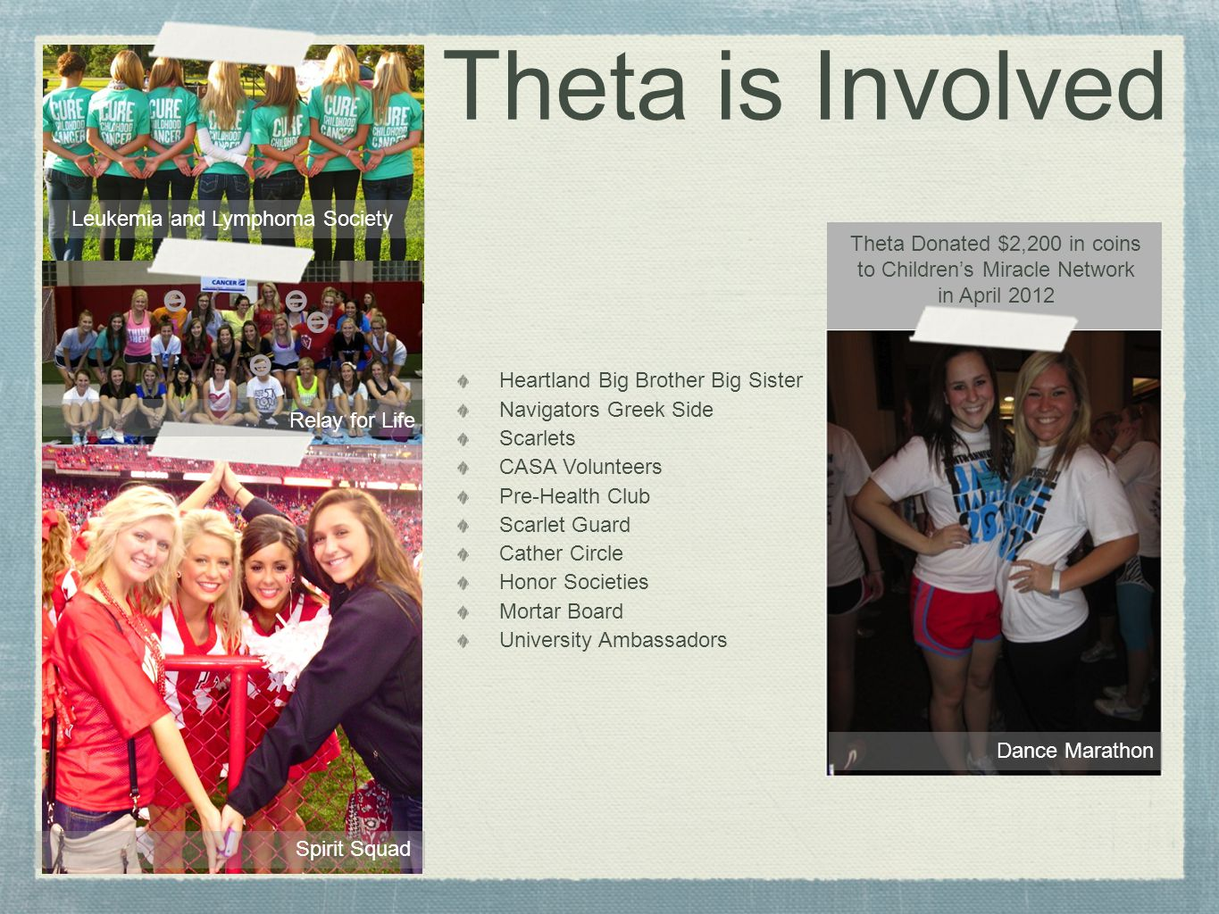 Theta is About Friendship From the outside looking in, you cant understand it.
