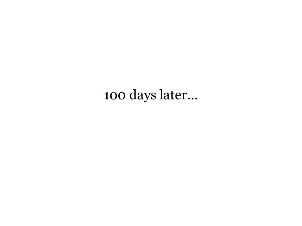 100 days later…