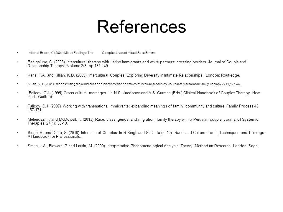 References Alibhai-Brown, Y.
