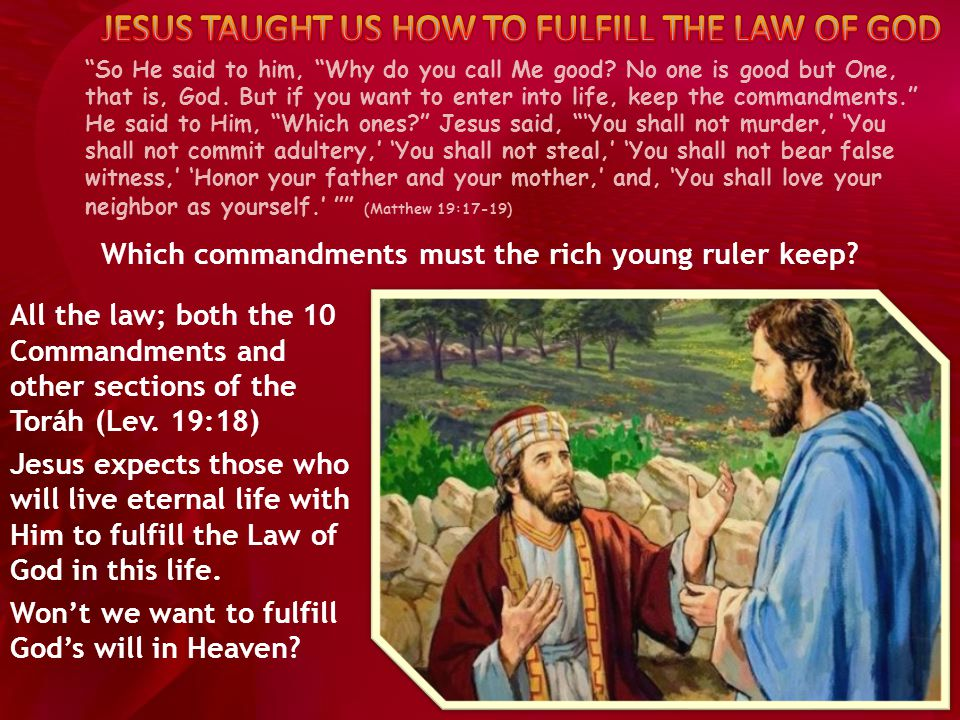On these two commandments hang all the Law and the Prophets.