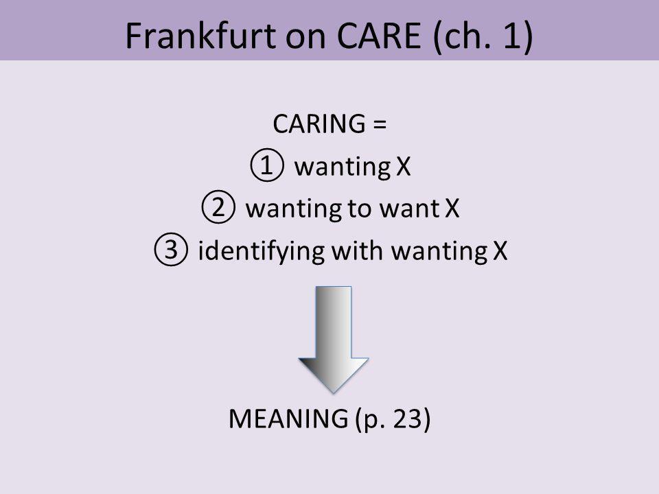 Frankfurt on CARE (ch.