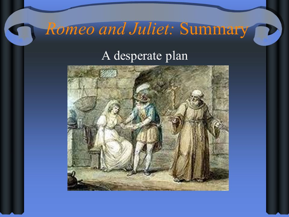 Romeo and Juliet: Summary A desperate plan
